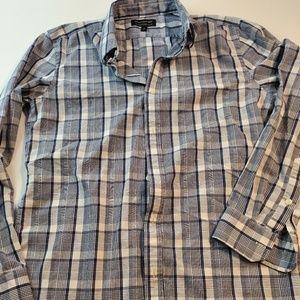 Banana Republic soft wash taylored M plaid shirt